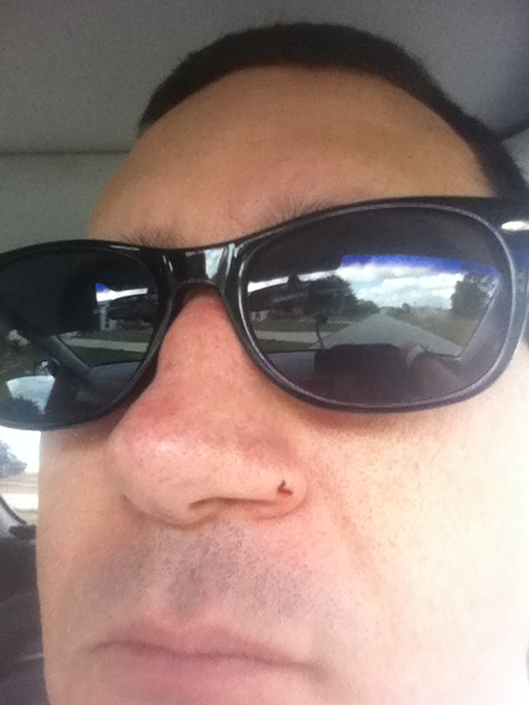 I cut my nose shaving now it looks like I have a permanent boog on my shnoz..