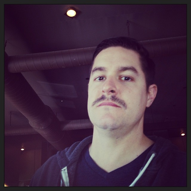 Visual proof of jars of clay's awesomeness: Dan Hazeltine's moustache (at Burger Up)