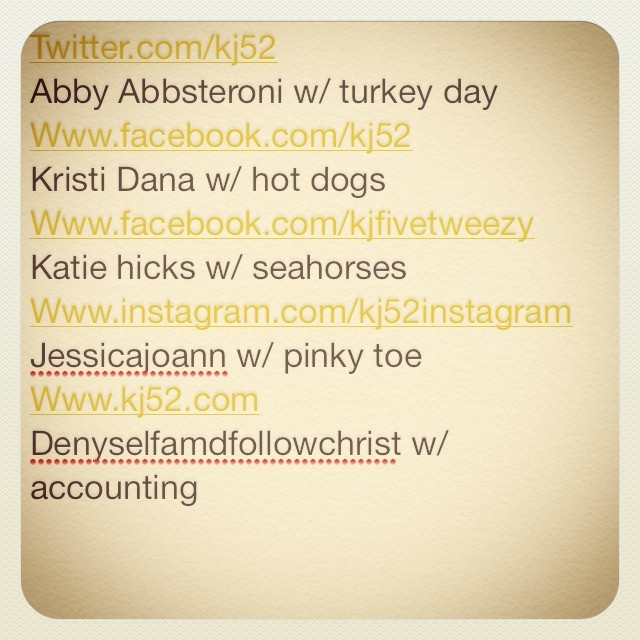 Here we go! Got my 5 topics: turkey day/accounting/hot dogs/pinky toe/accounting