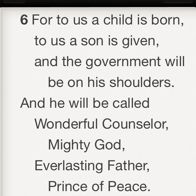 Merry CHRISTmas from Isaiah 9:6 ! (at Southwest Community Church)
