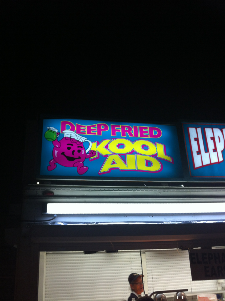 Deep fried kool aid apparently exists in case u thought medium rare kool aid wasn't cooked enough..