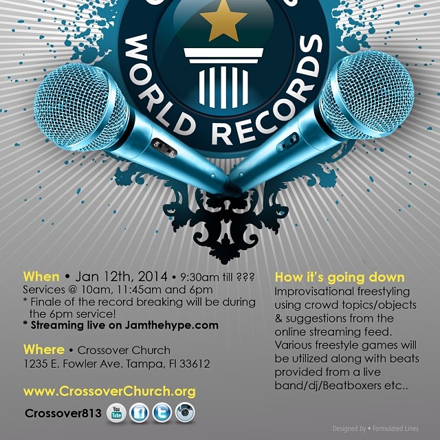 Here's more info on our Jan 12th attempt @ breaking the world record 4 longest team freestyle..