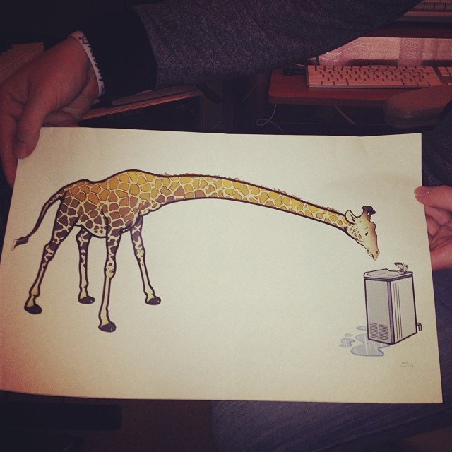 You know what? Sometimes life is as challenging as a giraffe drinking out a water fountain..