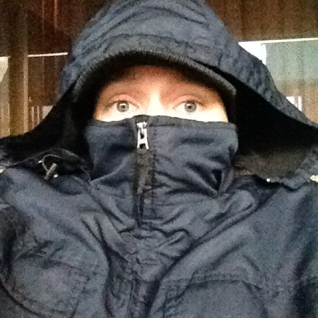 I was in shorts & a tshirt yesterday.. Today I look like a ninja.. Global warming what?