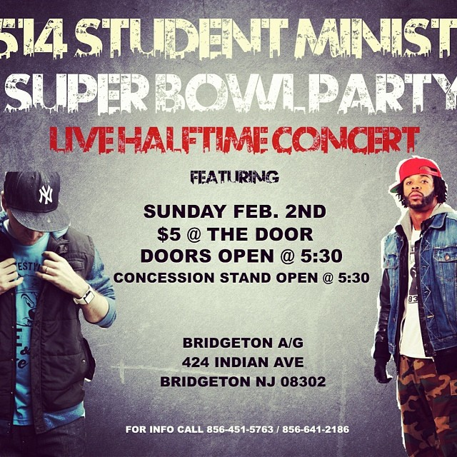 I'm performing during the Super Bowl! (In New Jersey that is..) come hang with me.. See flyer for details..