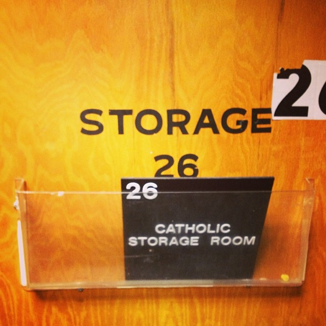No Protestants can be stored in this room..