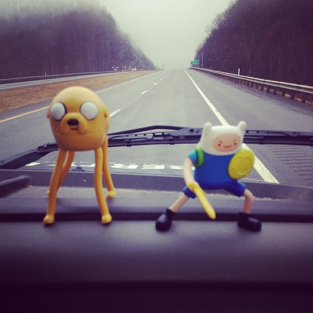 When you're on the road everyday is adventure time…