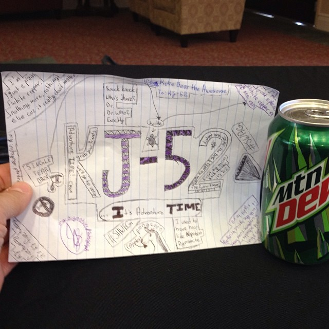 Got the best fans… They draw pictures for me and give me carbonated beverages.