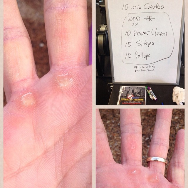Dear crossfit WOD, you are a cotton-headed ninny muffin… signed the calluses on my hands & the tears on my face..