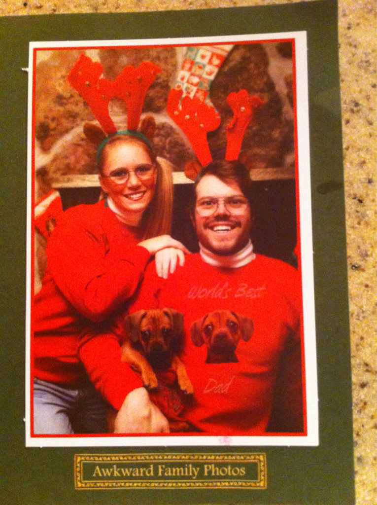 Christmas card that I got my wife.. Not gonna lie I'm kind of diggin that sweater.