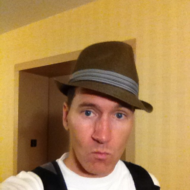 Not sure if this hat looks fly or look like Indiana Jones… Either way I'm pulling a blue steel. What y'all think yes or no?