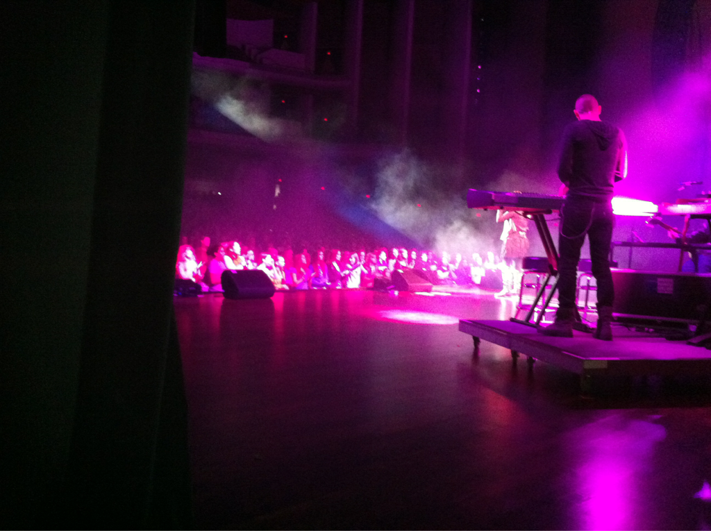 Here w/ 2000 girls @ revolve tour in Spokane .. Who let the white rapper guy in? Oh wait I did..