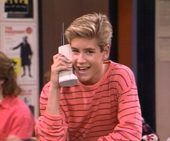 If I had to do high school again.. I think I'd wanna rock it as zack Morris w/ his cellphone.