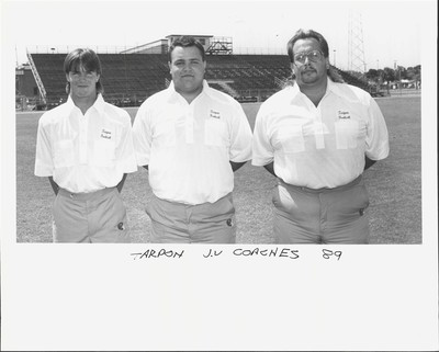 Found a pic of my jv football coaches from tarpon springs high school.. The sheer amount of mullets is staggering..