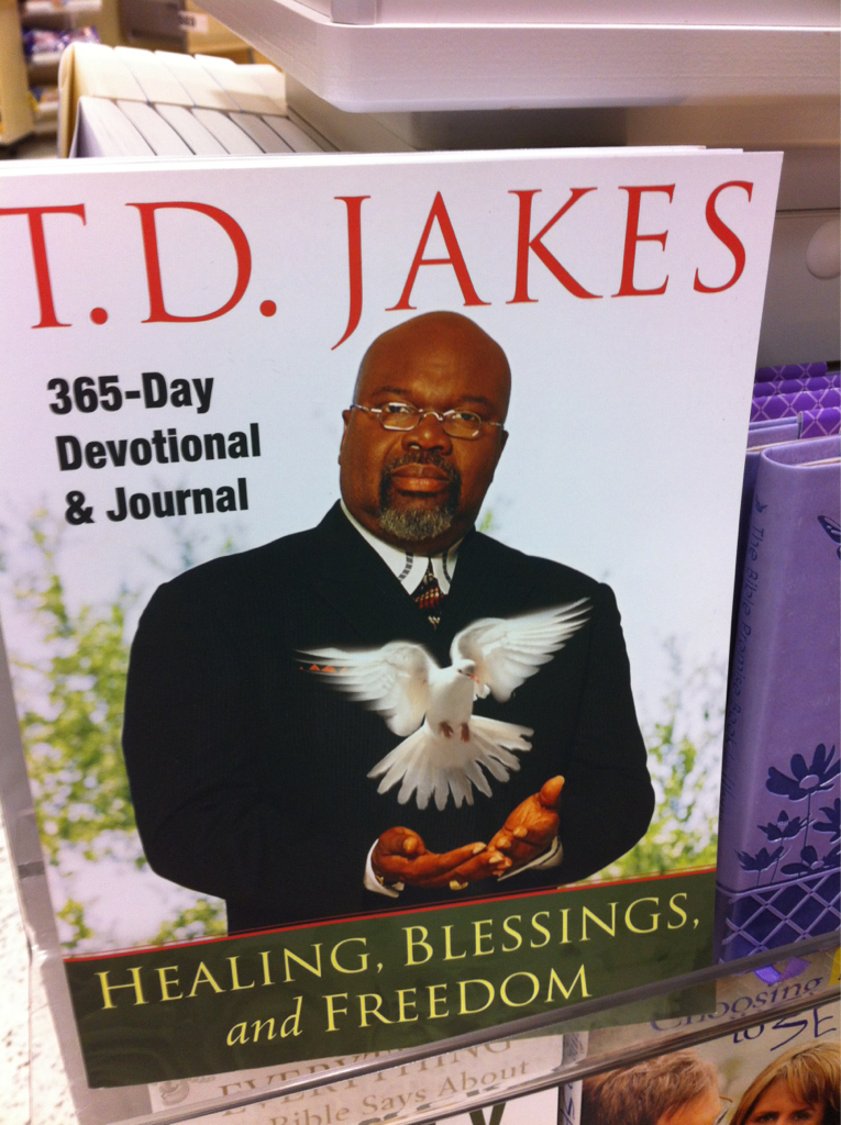 If I didn't know who TD jakes is this pic would make me think he's some sort of bird magician..