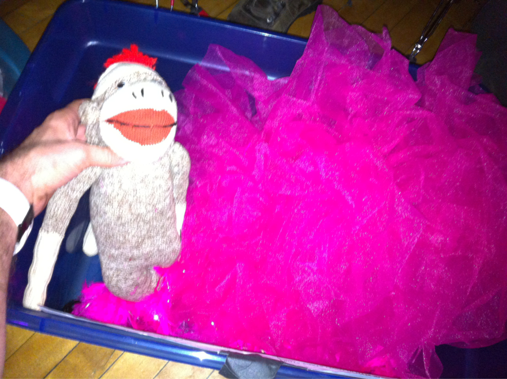 how do u know when your playing an all-girls event? When a tu-tu and a monkey is the backstage props..