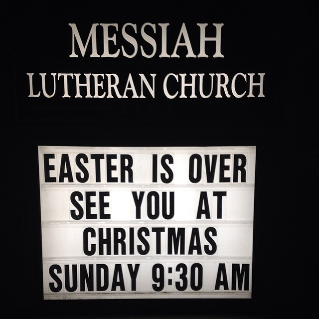 This was posted @ the church next to our hotel.. What you think? Funny? Mean? Accurate?