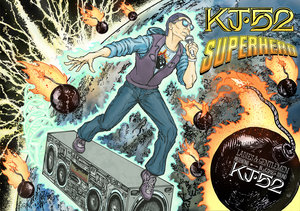 What do u guys think about something like this for a new kj52 poster? (shouts to deviant art)