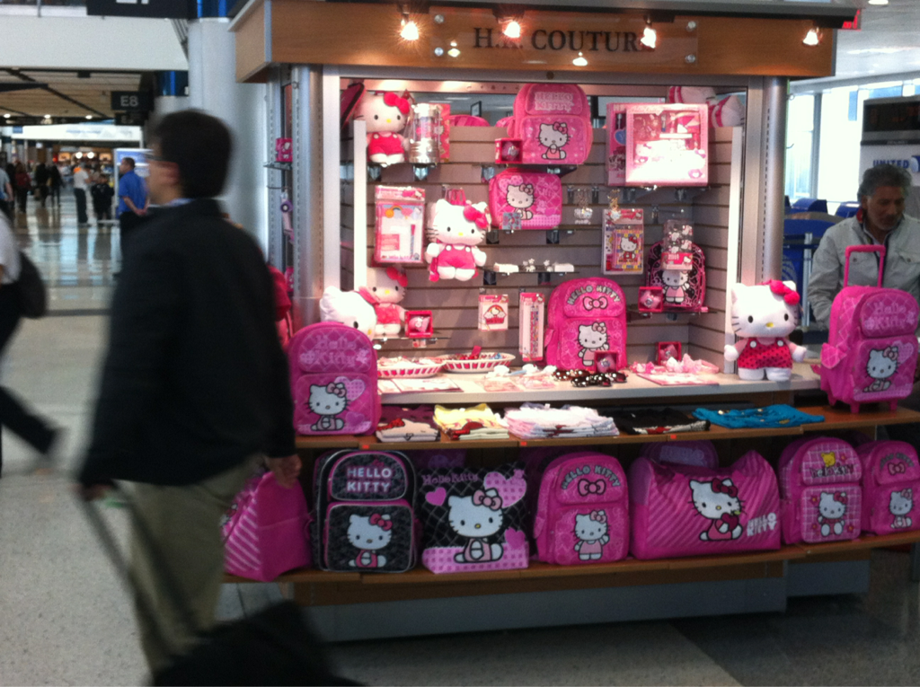 Most unmanly job ever.. Hello kitty kiosk salesman. I would have to go hunting everyday to wash off the pink..