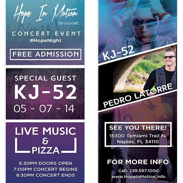 Free concert & pizza tomm. Ft myself and @pedrolatorre ! Check it out if your in the SWFL area..