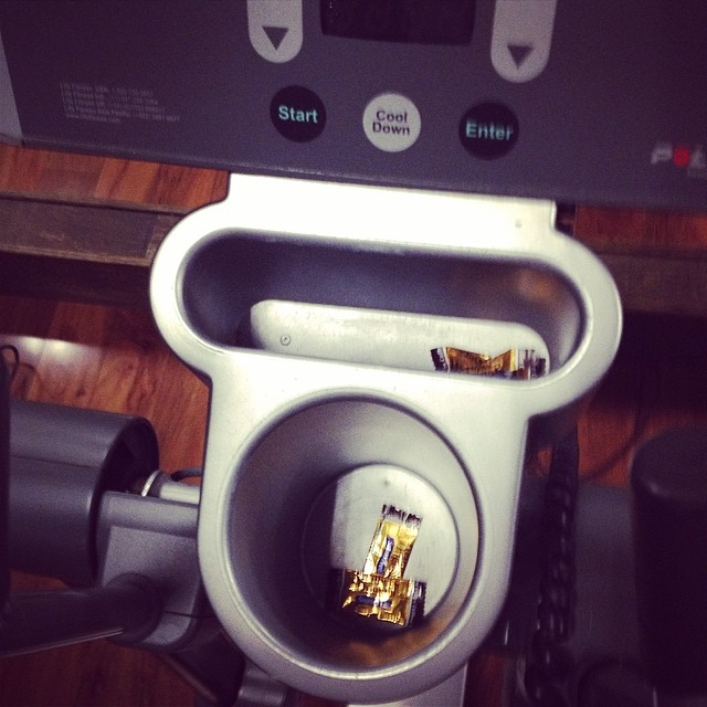 This elliptical is filled with empty candy wrappers… Uh #yourdoingitwrong