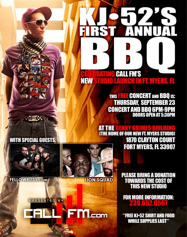 1 week from today it goes down! Free music, tshirts and BBQ! Sw Fl come on out!