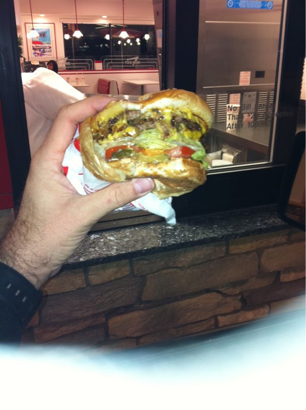 I have beheld a glimpse of heaven and the name is in and out burger..