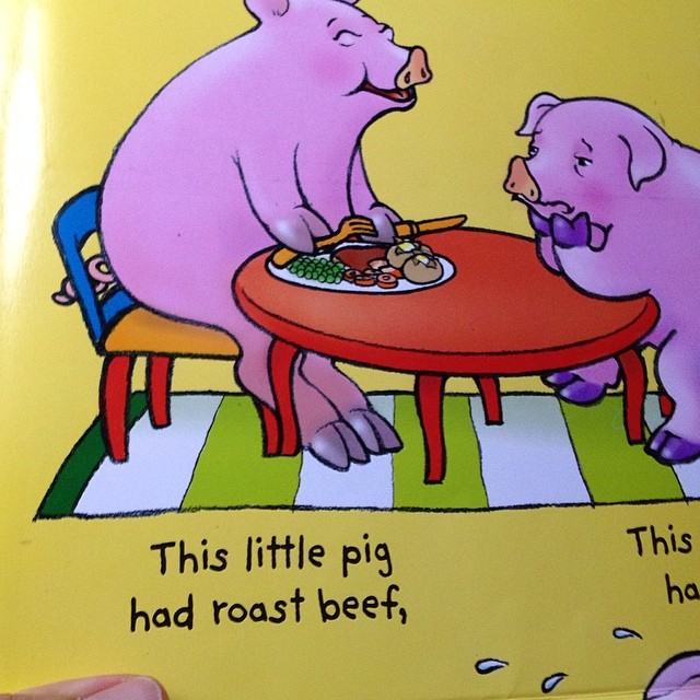 Anybody else put off by the fact that the pig is killing off his fellow farm animals & showing no remorse?