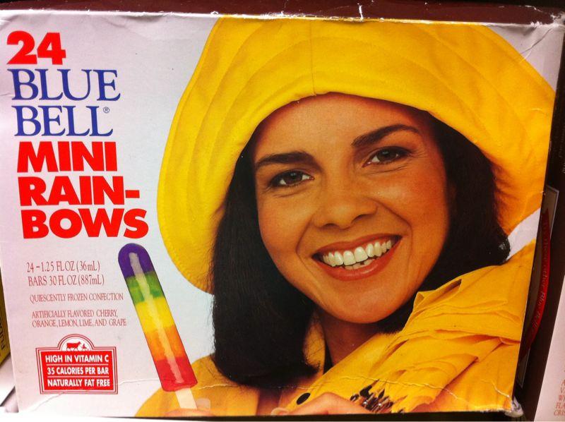 Hey lady! Why are u eating Popsicles in the rain? Wheeeeeeee!