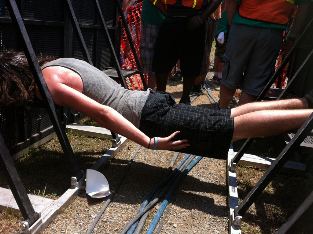 Planking @ creationfest fringe stage!