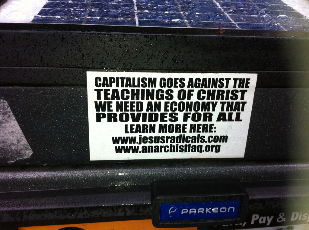 Saw this on the parking meter … Yep I'm in Seattle!