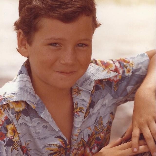 "#TBT little known fact: I used to do modeling when I was a ""jit"" apparently in this picture I was trying to hit the important ""7 year olds in terrible Hawaiin shirts with big lapels like a disco dancer demographic.."" It's safe to say I nailed that ever growing people group spot on.."