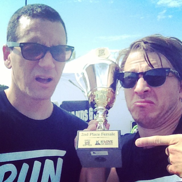 Myself & @mikedonehey of @tenthavenorth ran the 5k of the @hafproject today & got 2nd place female … I think there timer system is wrong but what do I know..