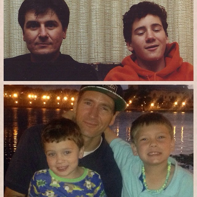 Me and my dad and me and my two boys.. Happy Father's Day to all the dads out there taking care of your kids and representing Christ to your children much respect!