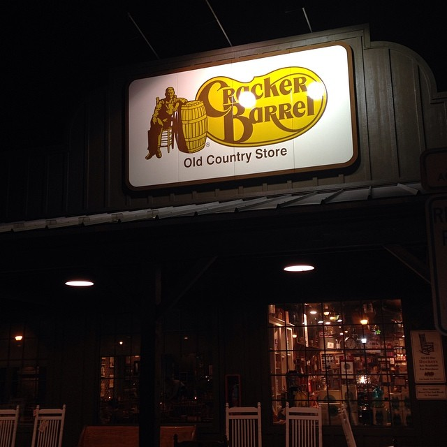 """Is Cracker Barrel racially insensitive to large barrel chested white men? Like """"hey jive honky you ain't nothing but a Cracker Barrel!"""" Or is it just me? Ok I'll go back to playing checkers while I wait in the Cracker Barrel pro shop… Aka where I buy pancake mix."""