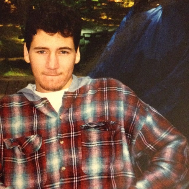 The answer to yesterday's #TBT is December 1994 .. Also I'm Sicilian/Scottish/Slovakian/Irish ..yes the flannel was very 90's & yes I still bite my lip like that when I'm being contemplative.