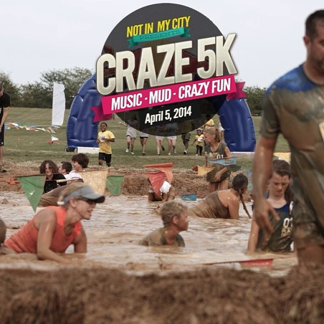 Swfl! Come hang out with me @ the craze5k this Saturday! I will be emceeing the event and throwing mud at you… http://www.facebook.com/craze5k for more details