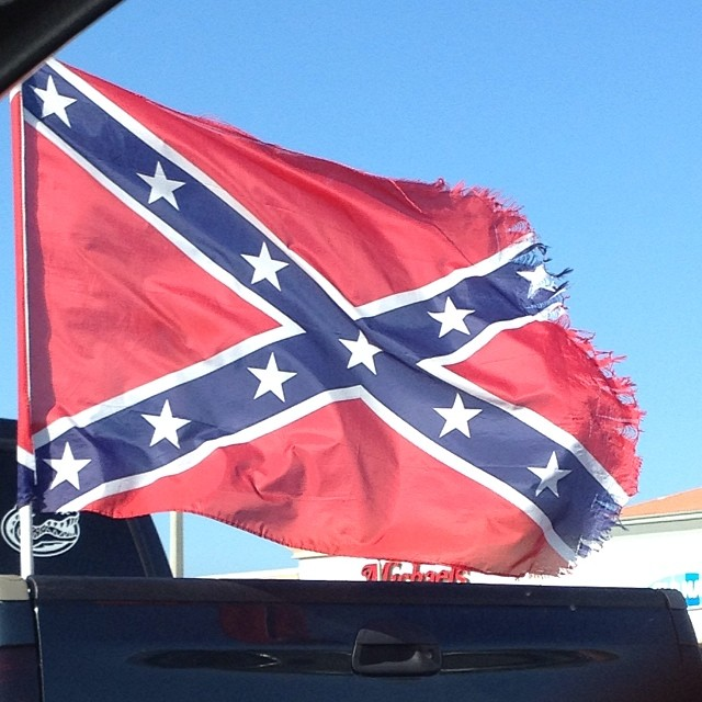 I don't mean this w/ any particular hidden opinion or agenda but do u think it's wrong/racist to still fly the confederate flag? Just curious on opinions not trying to start anything per Se..