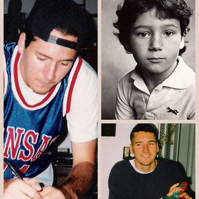 Here's the answer to yesterday's TBT: left hand shot 1995 (age 20 @ one of my first shows) top right hand shot 1982 (age 7 @ my school picture) bottom right 1997 (age 22 @ Christmas)