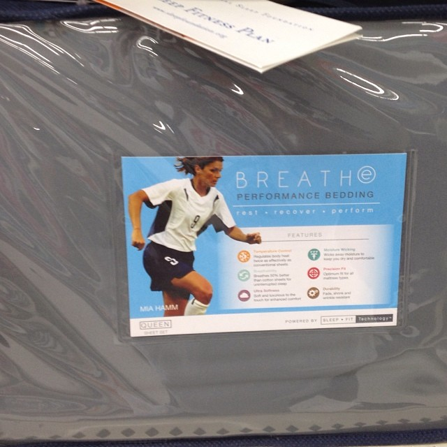 "Sometimes when I'm purchasing bed linen I think.. ""What choice would a women's soccer star pick?"" Glad to know walmart finally listened to the consumer & met that need.. Ha!"