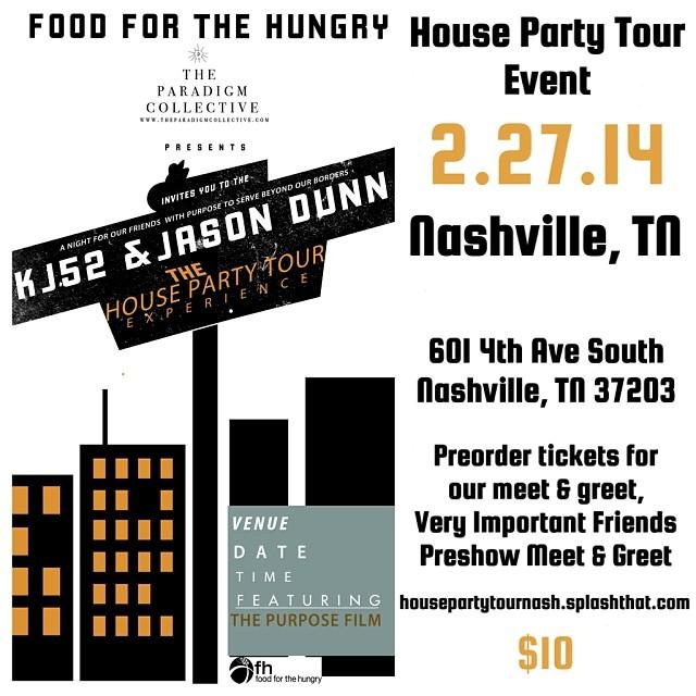 Next week! Concert & music video shoot in Nashville TN. Come out & be famous! www.housepartytournash.splashthat.com