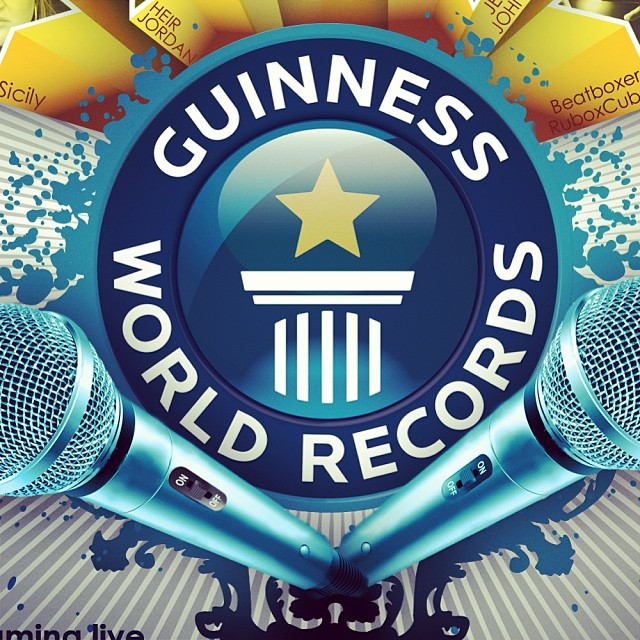 Friday freestyle time! Hit me with a topic.. First one to respond your topic gets used.. Also don't forget jan 12 we go for the guiness book of world records..