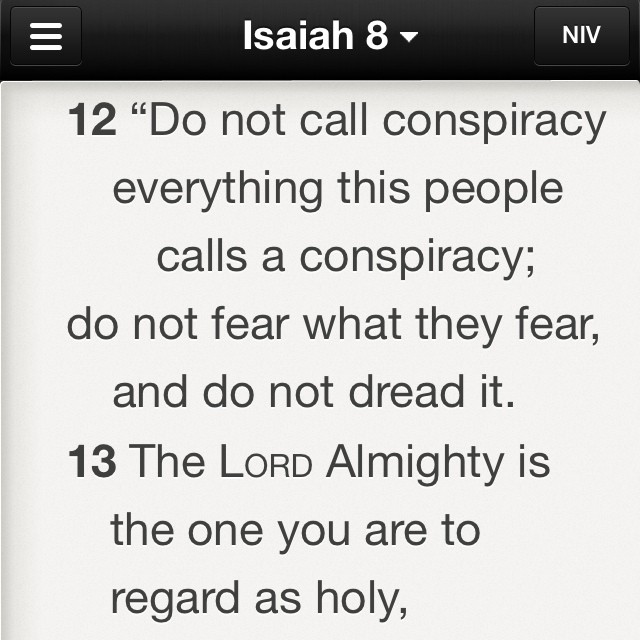 Worried about the illuminati/conspiracy theories/free masons/ etc? Here's some food for thought .. God is still in control.