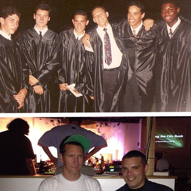 """Graduated w/ a bunch of """"brown"""" people.. :) Tonight I ran into 1 of them can u guess which one?"""