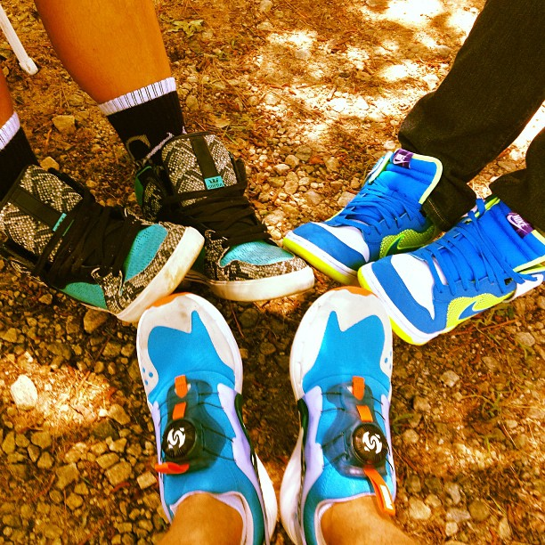 I can't front .. I would put my bands shoe game up against anyone.. (at Stone Mountain Park)