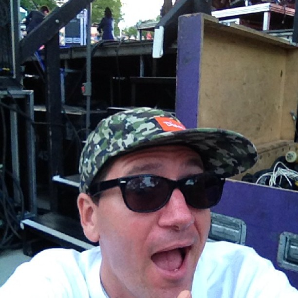 About to go on stage & do my best @therealtobymac impression w/ the @newsboys (at Planet Snoopy)