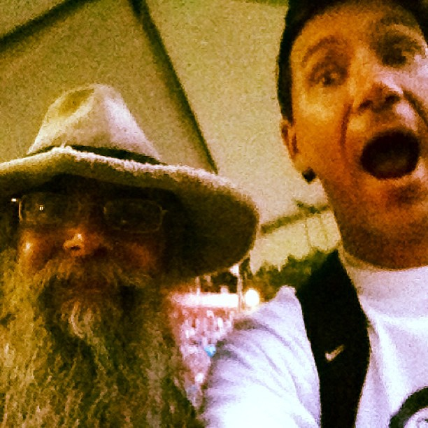 I just found the missing member of duck dynasty backstage! Uncle Si's cousin! (at Planet Snoopy)