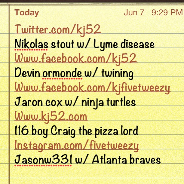 Topix: Ninja turtles/Craig the pizza lord/Atlanta braves/twinning/Lyme disease (it will be a minute before its posted FYI)