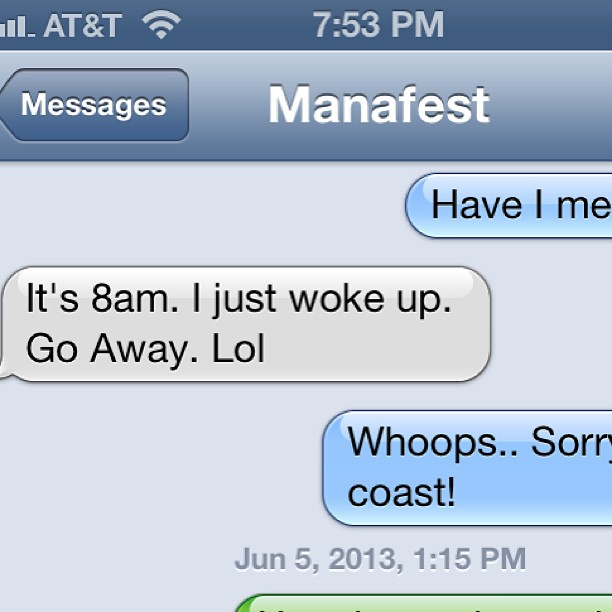 This is visual proof that u don't wake up a Canadian named @manafest before 830am.