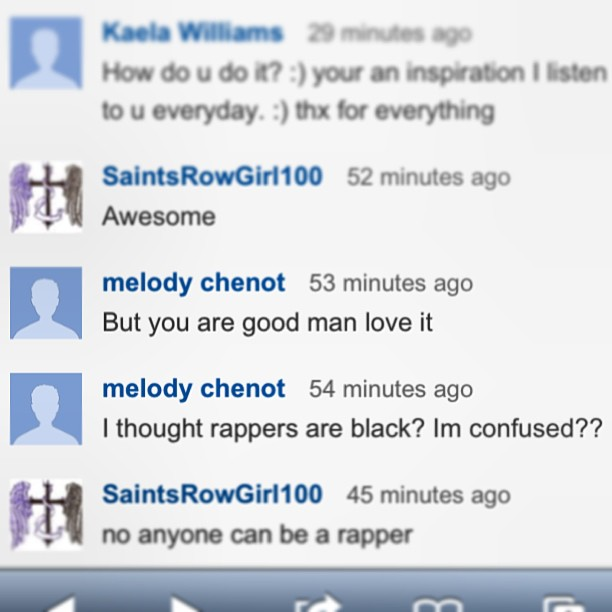Friday freestyle up @ www.youtube.com/52television where u can read comments like this one that made me :)